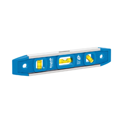 EMPIRE® 581-9 Magnetic Torpedo Level, 9 in L, 3 Vials, (1) 45 deg, (1) Level, (1) Plumb Vial Position, 0.001 in, Aluminum