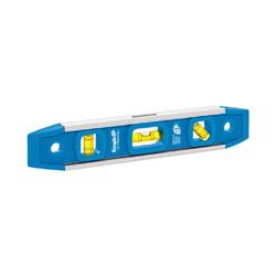 EMPIRE® 581-9 Magnetic Torpedo Level, 9 in L, 3 Vials, (1) 45 deg, (1) Level, (1) Plumb Vial Position, 0.001 in, Aluminum