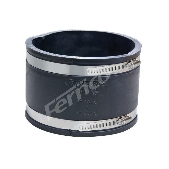 Fernco® 1004-44 Standard Flexible Stock Coupling, 4 in, Concrete, Flexible PVC