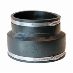Fernco® 1006-66 Flexible Pipe Coupling, 6 in, Concrete x Plastic/Cast Iron, PVC, Domestic