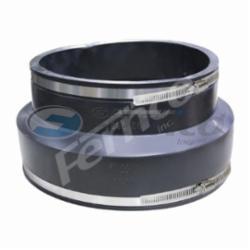 Fernco® 1006-88 Flexible Pipe Coupling, 8 in, Concrete x Cast Iron/Copper/Lead/Plastic/Steel, PVC, Domestic