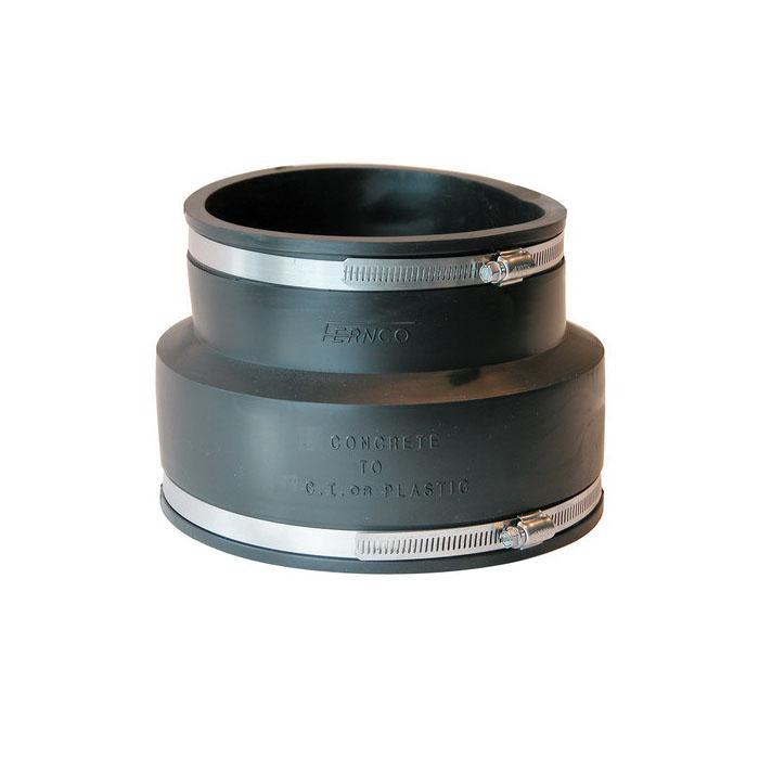 Fernco® 1006-46 Flexible Stock Coupling, 4 x 6 in, Concrete x Cast Iron/Plastic, PVC