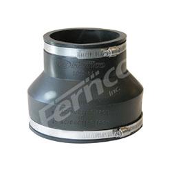 Fernco® 1055-64 Standard Flexible Stock Coupling, 6 x 4 in, Asbestos Cement Fiber/Ductile Iron, Flexible PVC