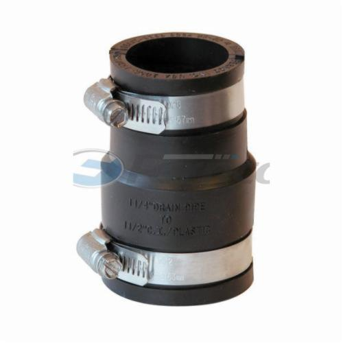 Fernco® 1056 Flexible Pipe Coupling, 1-1/2 in, Plastic, PVC, Domestic