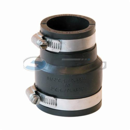 Fernco® 1056-215 Flexible Pipe Coupling, 2 x 1-1/2 in, Plastic, PVC, Domestic