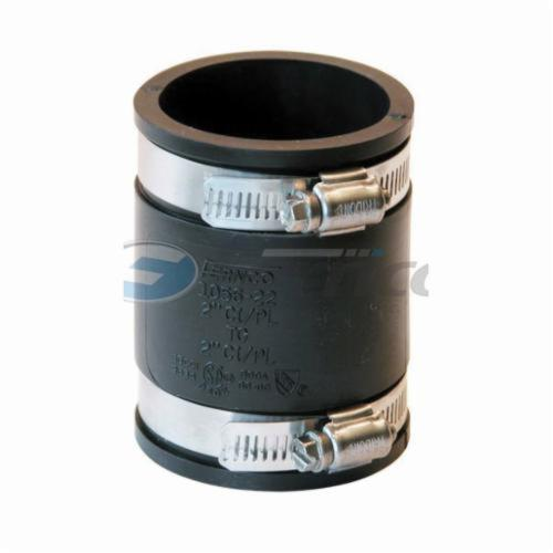 Fernco® 1056-22 Flexible Pipe Coupling, 2 in, Cast Iron/Copper/Lead/Plastic/Steel, PVC, Domestic