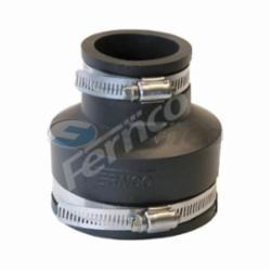 Fernco® 1056-315 Flexible Pipe Coupling, 3 x 1-1/2 in, Cast Iron/Copper/Lead/Plastic/Steel, PVC, Domestic