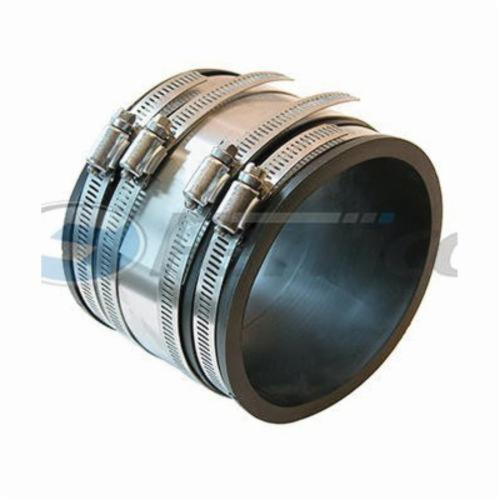 Fernco® 1056-33RC 1056RC Strong Back Flexible Pipe Coupling, 3 in, Cast Iron/Plastic, PVC, Domestic