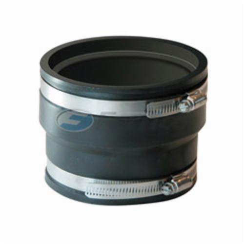 Fernco® 1070-44 Flexible Pipe Coupling, 4 in, ADS x Cast Iron/Plastic, PVC, Domestic