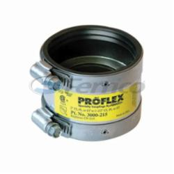 Fernco® PROFLEX® 3000-215 Shielded Pipe Coupling, 2 x 1-1/2 in, Cast Iron/Plastic/Steel, PVC, Domestic