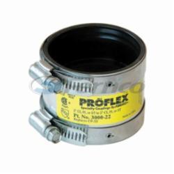 Fernco® PROFLEX® 3000-22 Shielded Pipe Coupling, 2 in, Cast Iron/Plastic/Steel, PVC, Domestic