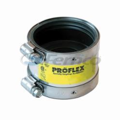 Fernco® PROFLEX® 3001-1125 Shielded Pipe Coupling, 1-1/2 x 1-1/4 in, Cast Iron/Plastic/Steel x Copper/Plastic, Domestic