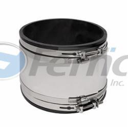 Fernco® 5006-66RC 5006 RC Strong Back Repair Coupling, 6 in, Concrete x Cast Iron/Plastic, 60 Duro Shore A Flexible PVC, Domestic