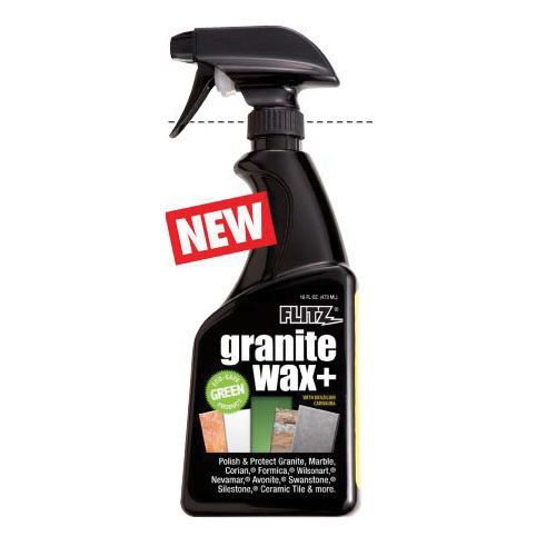 Flitz® Waxx® GRX 22806 Granite Wax Plus Cleaner, 16 oz Spray Bottle, Yellow