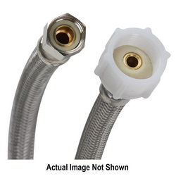 Fluidmaster® PRO SERIES™ PRO1T09 Toilet Connector With Plastic Nut, 3/8 x 7/8 in, Compression x Ballcock, 9 in L, 125 psi, 304 Stainless Steel