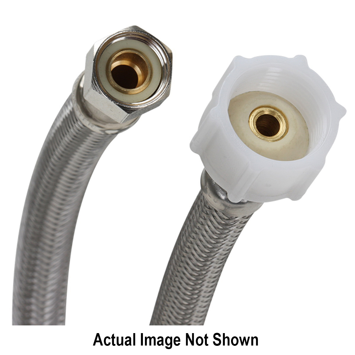 Fluidmaster® PRO SERIES™ PRO1T16 Toilet Connector With Plastic Nut, 3/8 x 7/8 in, Compression x Ballcock, 16 in L, 125 psi, 304 Stainless Steel
