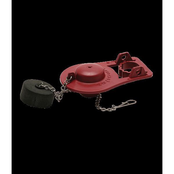 Fluidmaster® PRO55R Universal Adjustable Toilet Flapper, Rubber, Red
