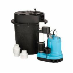 Little Giant® Drainosaur® 506055 WRS Sump Pump, 46 gpm, 1-1/2 in FNPT Inlet x 1-1/2 in FNPT Outlet, 1/3 hp, Epoxy Coated Cast Iron