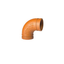 Grinnell® 21080GS 90 deg Pipe Elbow, 8 in, Grooved, Ductile Iron, Hot-Dipped Galvanized