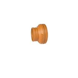 Grinnell® 2506025S Concentric Reducer, 6 x 2-1/2 in, Grooved, Ductile Iron, Painted