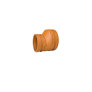 Grinnell® 2514030S Eccentric Reducer, 4 in x 3 in, Grooved, Ductile Iron, Painted