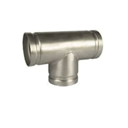 Grinnell® 419604A Pipe Tee, 6 in, Grooved, SCH 10/STD, 304 Stainless Steel, Import