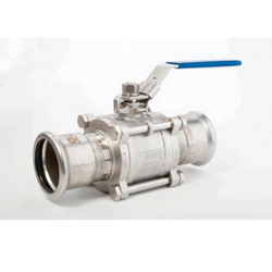 Grinnell® 469050T Grade T Ball Valve, 1/2 in, 316 Stainless Steel Body