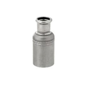 """Grinnell® 4742010E G-PRESS Pipe Reducer With Grade """"E"""" EPDM O-Ring, 2 x 1 in, Female x Male, 316 Stainless Steel"""