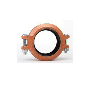 "Grinnell® 61740ENP Transition Coupling With Grade ""EN"" EPDM Gasket, 4 in, Grooved, Ductile Iron, Copper Acrylic Enamel"