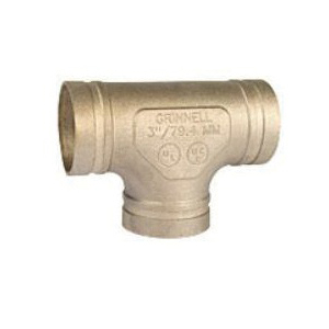 Grinnell® 61925S Pipe Tee, 2-1/2 in, Groove, Copper Alloy