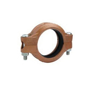 "Grinnell® 67260EN3 Rigid Coupling With Grade ""EN"" Tri-Seal Gasket, 6 in, Grooved, Ductile Iron, Copper Acrylic Enamel"