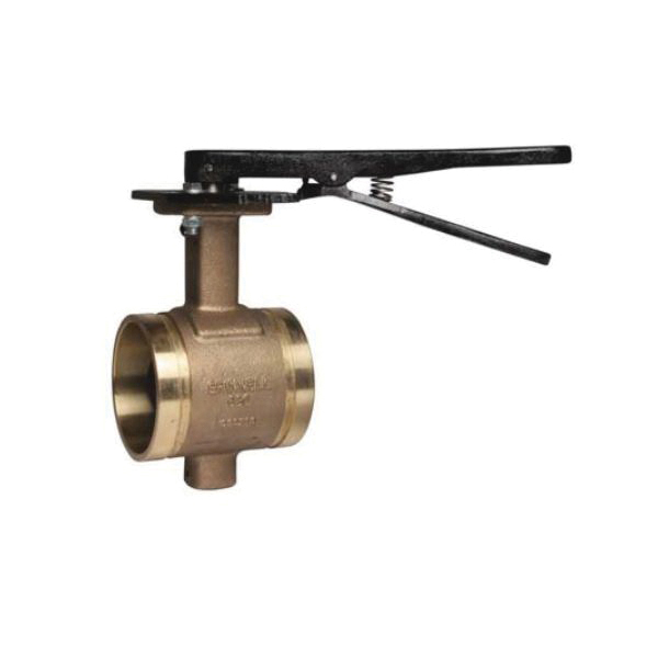 Grinnell® 68060EL B680 Butterfly Valve With Lever Handle, 6 in, Grooved, Bronze Body