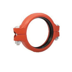 "Grinnell® 70510ES Flexible Coupling With Grade ""E"" EPDM Gasket, 10 in, Grooved, Ductile Iron, Painted"
