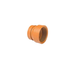 Grinnell® 72605 380 Pipe Adapter, 3 in, Grooved x FNPT, Carbon Steel, Orange Painted