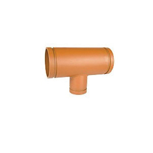 Grinnell® 75449 321 Reducing Tee, 14 x 14 x 12 in, Grooved, Carbon Steel, Orange Painted