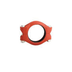 """Grinnell® 77012ES High Pressure Rigid Coupling With Grade """"E"""" EPDM Gasket, 12 in, Grooved, Ductile Iron, Painted"""