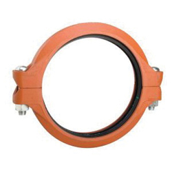 "Grinnell® 77213ES Rigid Coupling With Grade ""E"" EPDM Gasket, 1-1/4 in, Grooved, Ductile Iron, Painted"
