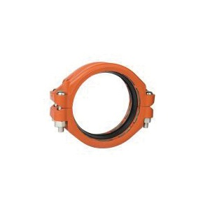 "Grinnell® 90940ES Plain End Coupling With Grade ""E"" EPDM Gasket, 4 in, Grooved, Ductile Iron, Painted"