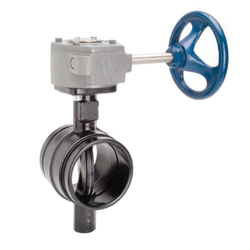Grinnell® B30280EG Butterfly Valve With Gear Operator, 8 in, Grooved, Ductile Iron Body