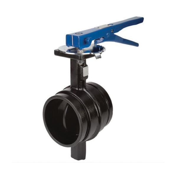 Grinnell® B30360EL Butterfly Valve With Lever Lock Operator, 6 in, Grooved, Nylon Body