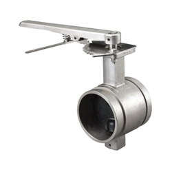 Grinnell® B48030EL Butterfly Valve With Lever Operator, 3 in, Grooved, 316 Stainless Steel Body