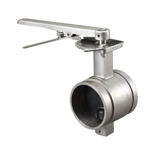 Grinnell® B48040EL Butterfly Valve With Lever Operator, 4 in, Grooved, 316 Stainless Steel Body