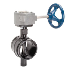 Grinnell® BN30260EG Butterfly Valve With Gear Operator, 6 in, Grooved, Ductile Iron Body