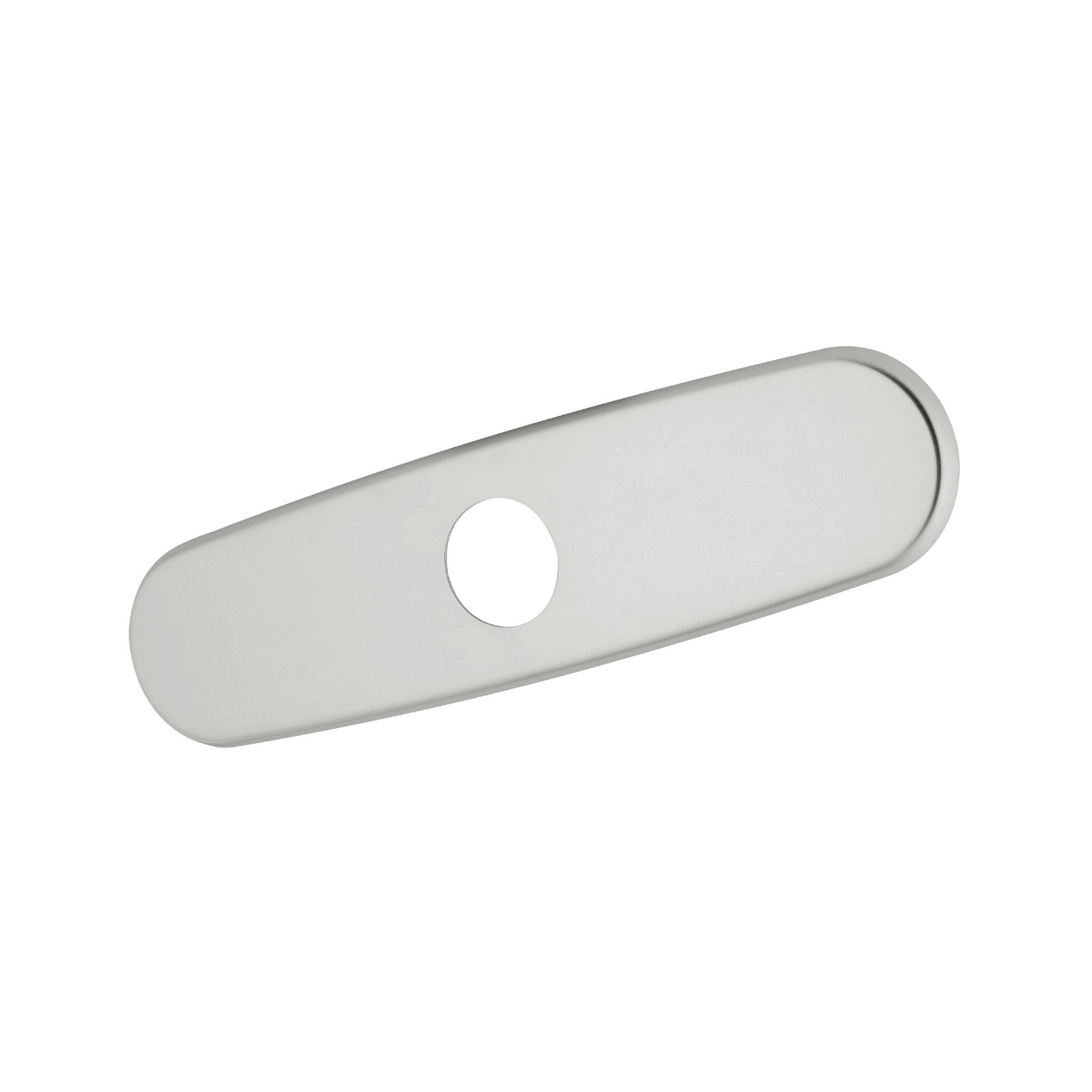 GROHE 07552SD0 Escutcheon, For Use With Centerset Kitchen, Bar, Lavatory and Bidet Faucet to Cover Unused Mounting Hole, 10 in L, Brushed Stainless Steel, Import