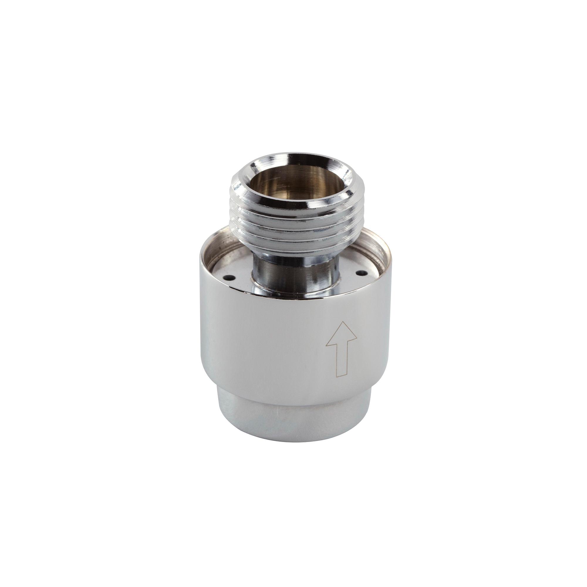 GROHE 07911000 In-Line Vaccum Breaker, 1/2 in, StarLight® Chrome, Domestic