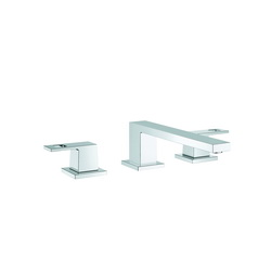 GROHE 117982 Eurocube® Roman Tub Filler, StarLight® Chrome Plated, 2 Handles, Hand Shower Yes/No: No, Import