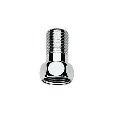GROHE 12424000 Straight Union, For Use With Grohtherm XL 35085/35086 1 in Thermostat Mixer, StarLight® Chrome, Import