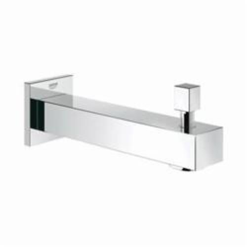 GROHE 13307000 Eurocube® Tub Spout, 6-11/16 in L, 1/2 in FNPT Connection, 6.9 gpm, Brass, Chrome Plated, Import