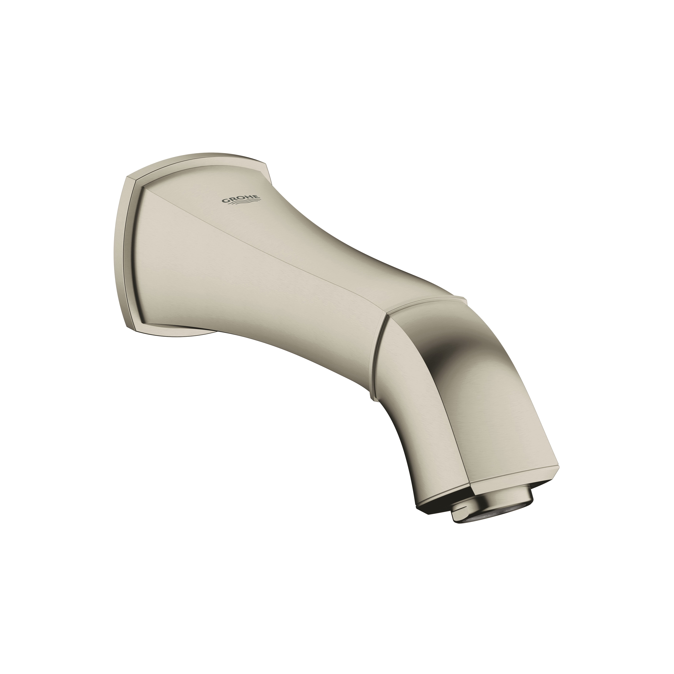 GROHE 13342EN0 Grandera™ Wall Mounted Tub Spout With Flow Control, StarLight® Brushed Nickel, Import