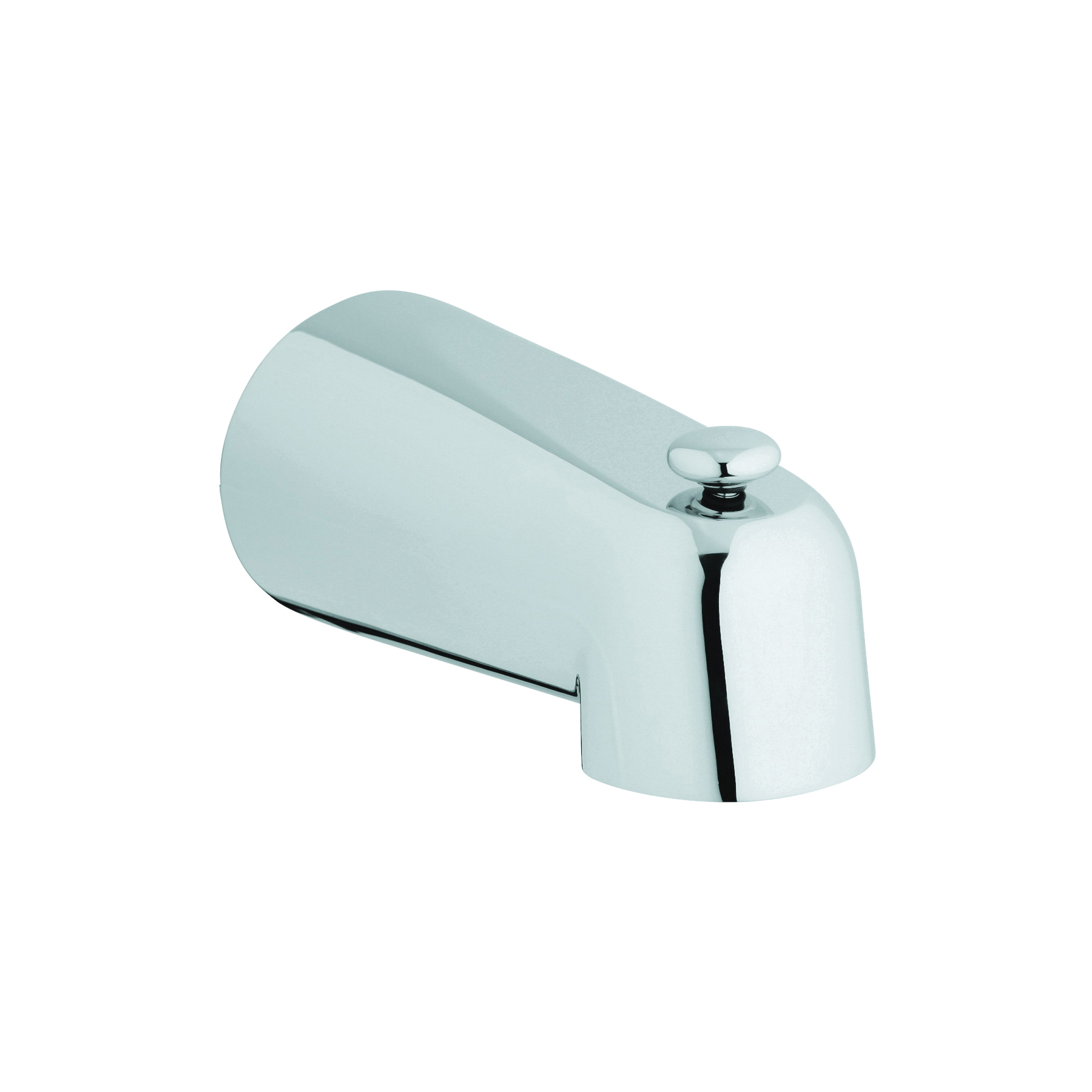 GROHE 13611000 Classic Tub Spout With Diverter, 5-1/2 in L, Brass, Chrome Plated, Import